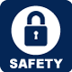 icon of lock and safety