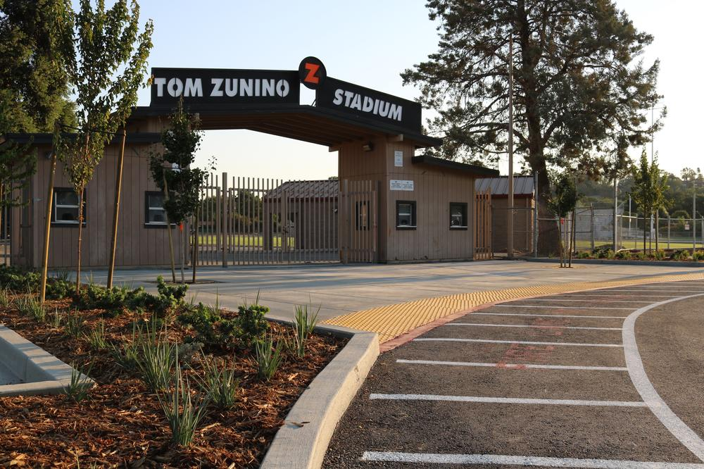 Entrance to Zunino Stadium