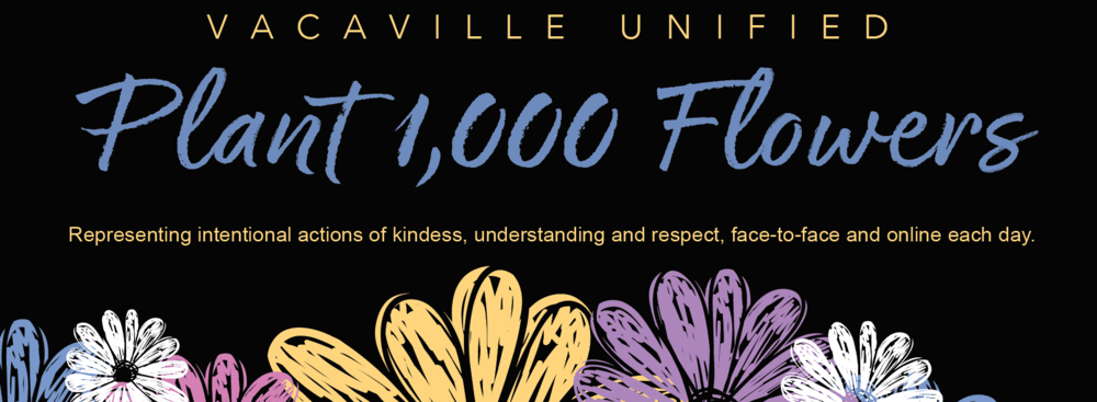 plant 1000 flowers representing kindness and respect