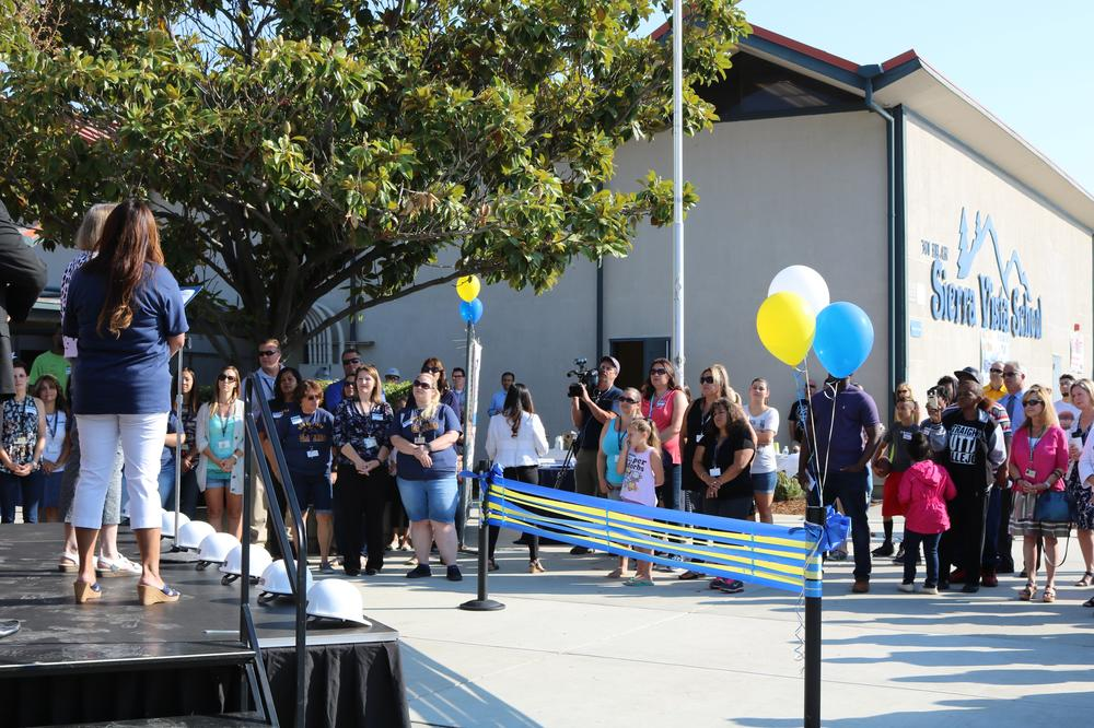 Ribbon cutting celebration at Sierra Vista K-8