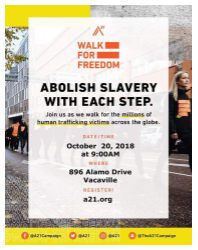 A21 Walk for Freedom Flyer